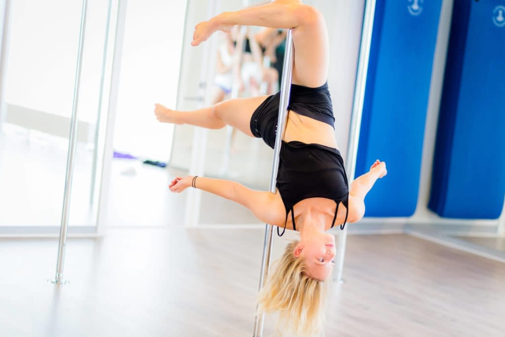 pole fitness upside down