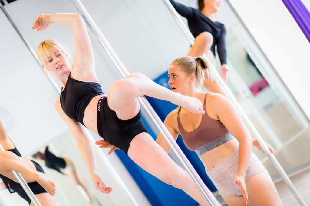 pole fitness supported cupid