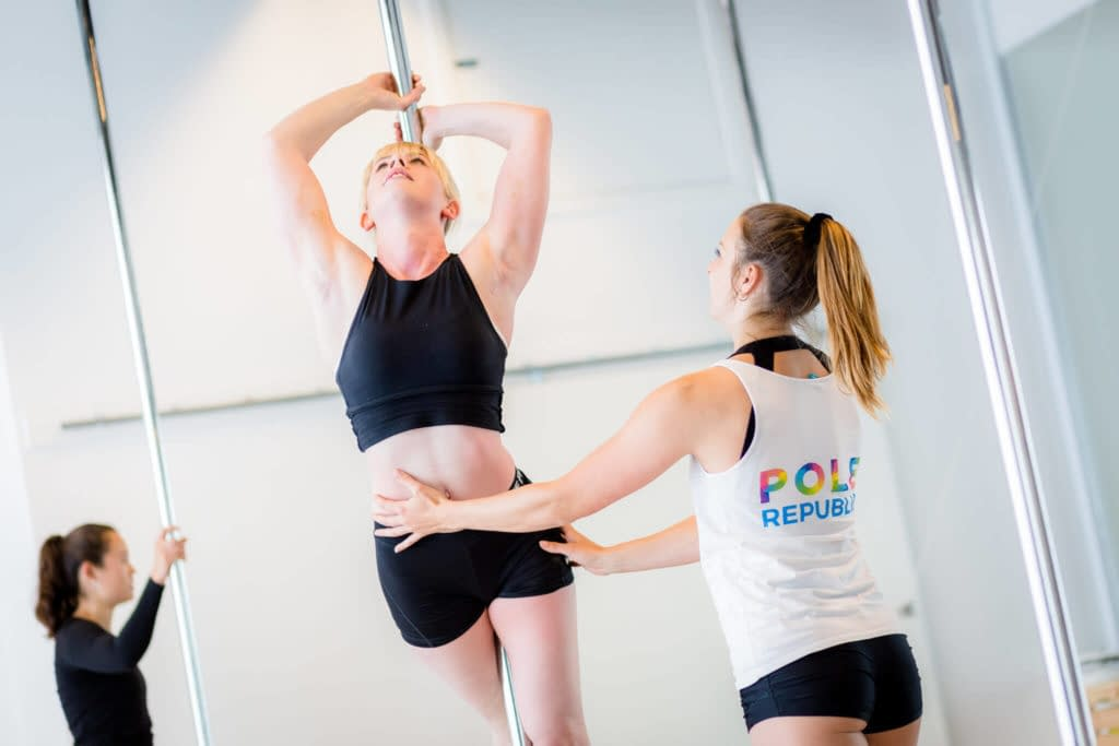 pole fitness supported titanic