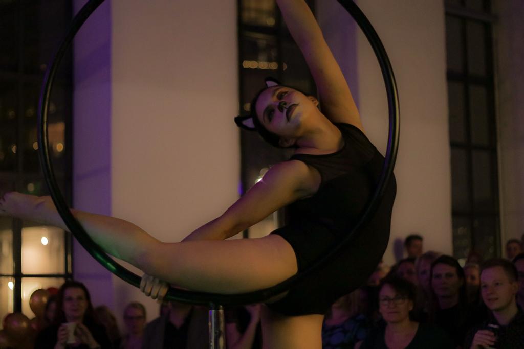 girl in a lollipop hoop