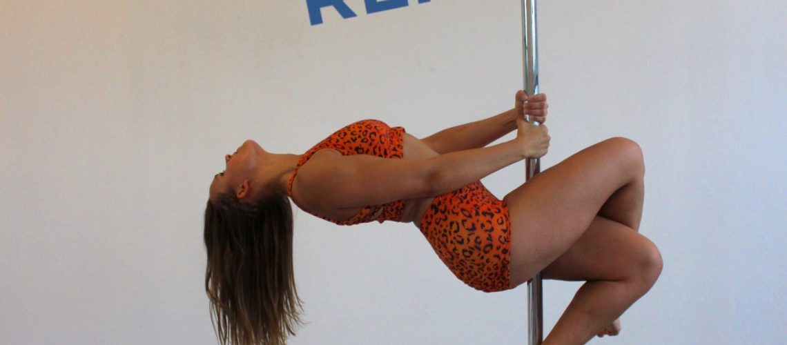 pole dance girl in pole