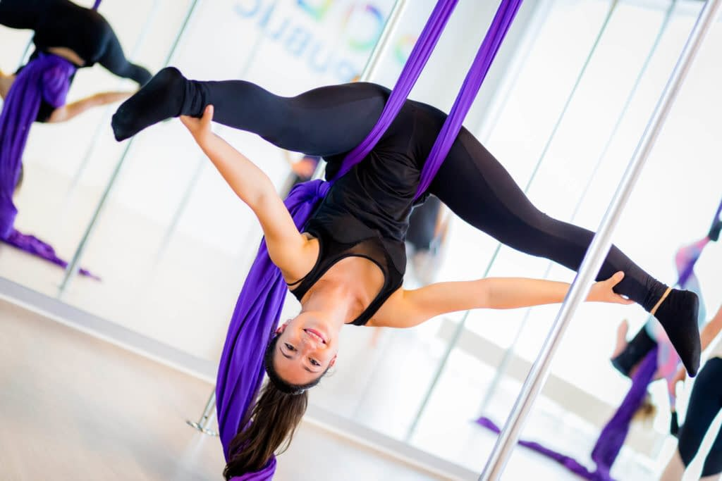 aerial silk upside down